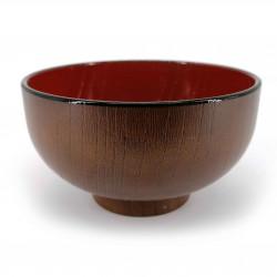 Soup bowl, in imitation wood resin - MOKUZAI