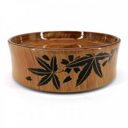 Round resin tray for sushi, wood look - MOMIJI