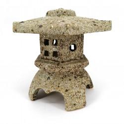 Large ceramic table lantern ornament, stone look - TORO