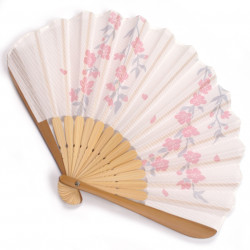 japanese fan bamboo & cotton SAKURA