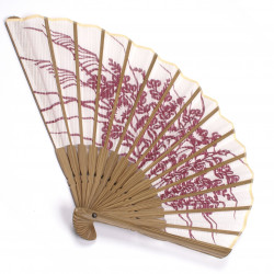 japanese fan bamboo & cotton KIKYO