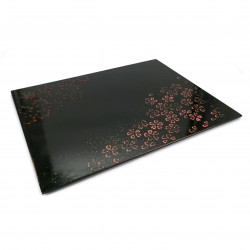 Japanese tray in black lacquered wood - MOMIJI SAKURA