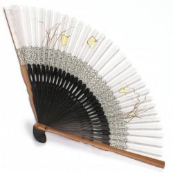 éventail japonais en coton et bambou HOTARU 3
