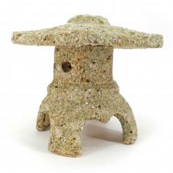 Medium ceramic free-standing lantern ornament, stone look - TORO
