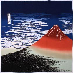 furoshiki japonais Mont fuji Hokusai