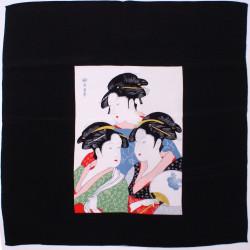 furoshiki japonais, GEISHA, 3 femmes