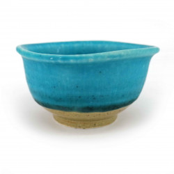Small Japanese ceramic container, turquoise blue, KAIYO