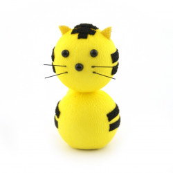 japanese okiagari doll yellow tiger