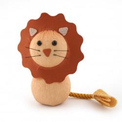 bambola giapponese okiagari protettore, RAION, leone