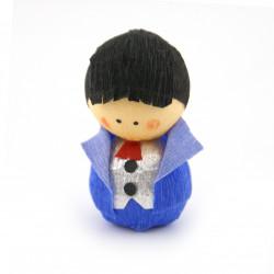 poupée japonaise okiagari doll blue SHINRO