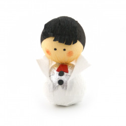 japanese okiagari doll SHINRO white bridegroom