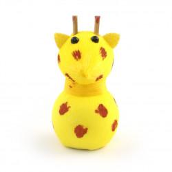bambola giapponese okiagari protettore, JIRAFU, Giraffa gialla