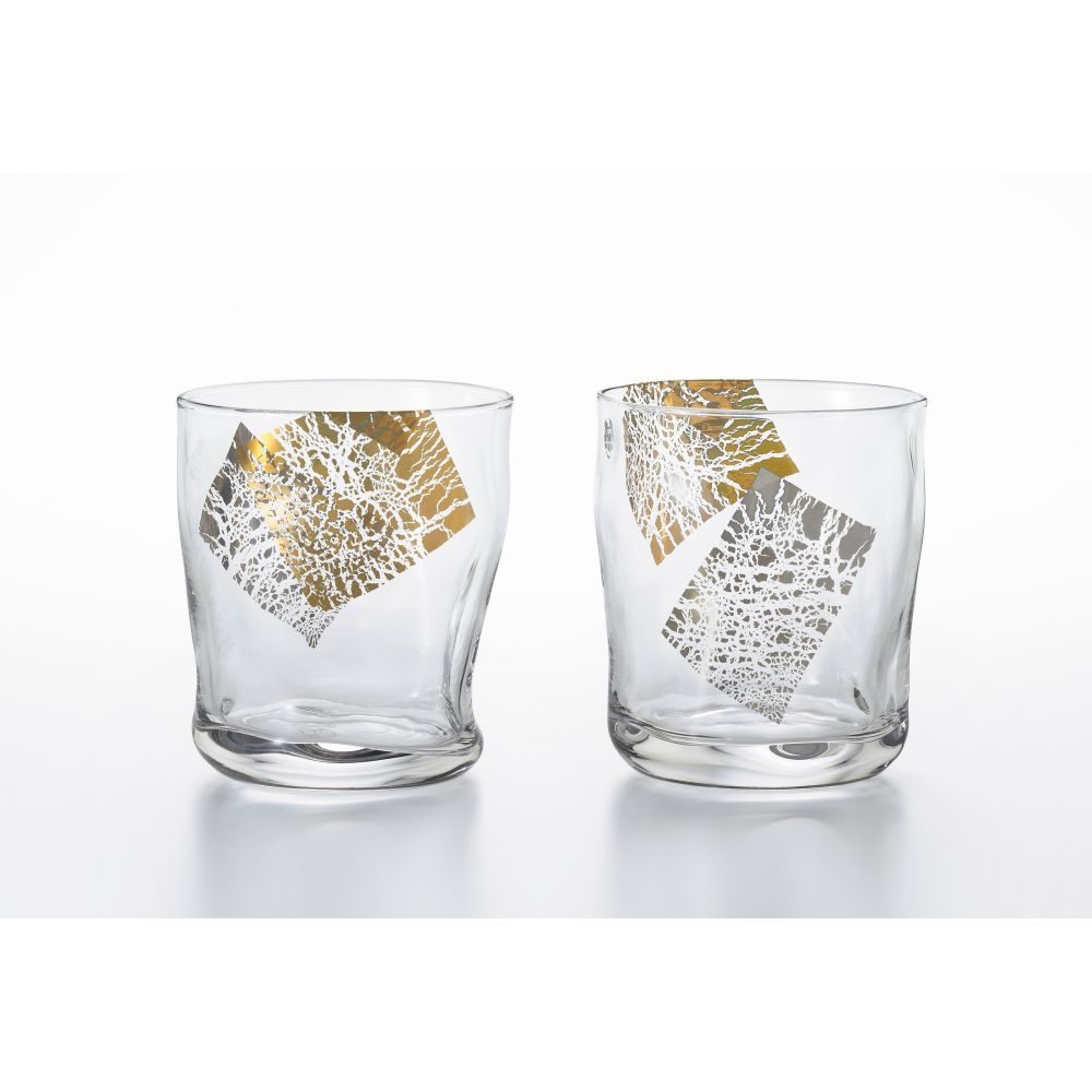 Set of 2 Japanese whiskey glasses, PREMIUM KIRARI