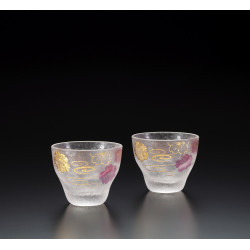 Set of 2 Japanese sake glasses, PREMIUM SAKURASUIMON