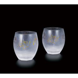 Set of 2 Japanese whiskey glasses, PREMIUM CHOJU-GIGA