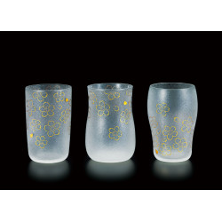 Set of 3 Japanese beer glasses, PREMIUM SAKURA CRAFT