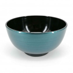 Soup bowl, metallic blue, METARIKKU