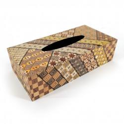 Tissue box in traditional Yosegi marquetry from Hakone, YOSEGI
