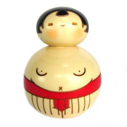 Japanese red sumo kokeshi doll, OSUMO-SAN