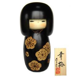 muñeca de madera japonesa - kokeshi, KOUBAI, negro