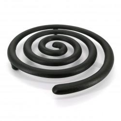 Trébede en hierro fundido japonés para tetera, UZUMAKI, negro
