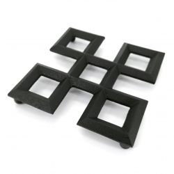 Trébede en hierro fundido japonés para tetera, KUMIKOUSHI, negro