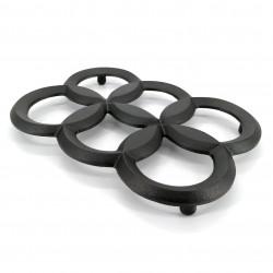Trébede en hierro fundido japonés para tetera, NANATSUBA, negro