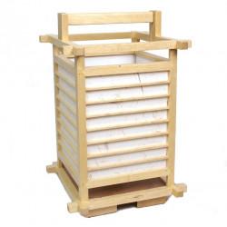 Lampe japonaise naturelle bois et papier 2034