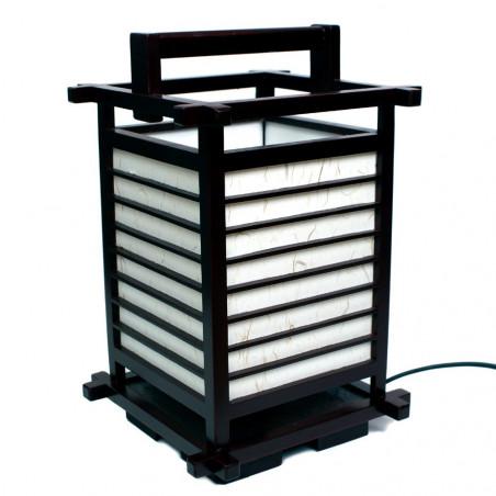 Lampe de table japonaise, NARA, noire