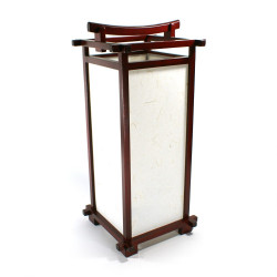 japanese lamp red wood and paper L216C