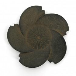 Small Japanese saucer in cast iron, SAKURA, cherry blossom