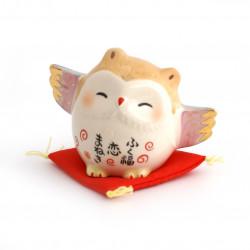 japanese owl, KOI-MANEKI, lucky charm