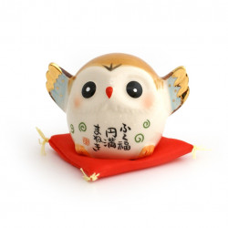 Japanese owl, ENMAN-MANEKI, lucky charm