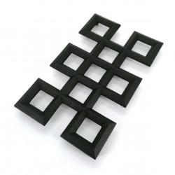Trébede en hierro fundido japonés para tetera, NAGATEKUMIKOUSHI, negro