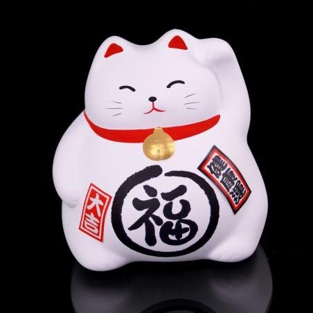 Japanese lucky cat, MANEKINEKO MIYAKO, white