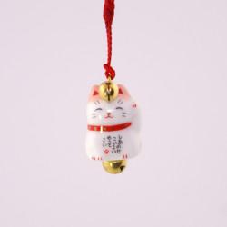 Gancio gatto decorativo giapponese per telefono, MANEKINEKO, rosa