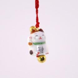 Gancio gatto decorativo giapponese per telefono, MANEKINEKO, tricolore