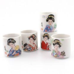 set japonais de 5 tasses à saké 258621 BIJIN