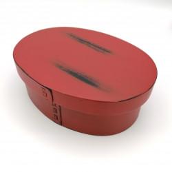 Japanese oval cedar wood bento lunch box, MAGEWAPPA
