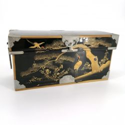 Large Lacquered Miniature Wooden Chest, Taishō Period