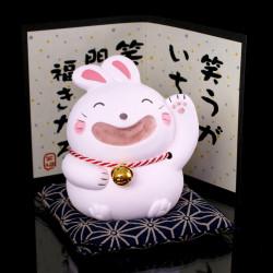 Lapin blanc porte-bonheur japonais 334319