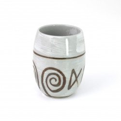 Japanese gray ceramic tea cup, NARUTO