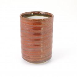 tasse rouge japonaise à thé en céramique AKA IZAKAYA