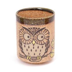 tasse japonaise à thé en céramique MYA39335 hibou