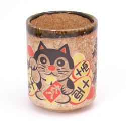 tasse japonaise à thé en céramique chat NEKO