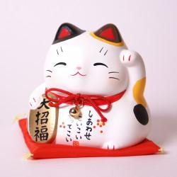 Chat porte-bonheur tirelire japonaise manekineko, MIKE OKANE