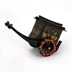 Japanese black resin cart shaped phoenix storage box, HOOH, 18x11x8.6cm