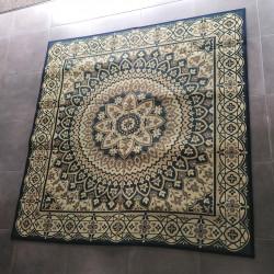 Japanese traditional rug, rice straw mat, circles, Sākuru