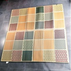 Japanese traditional rug, rice straw mat, Ichimatsuwamon