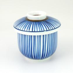 blue tea cup with lid ceramic 1062573